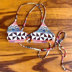Other - Tribal Print Reversible bikini top